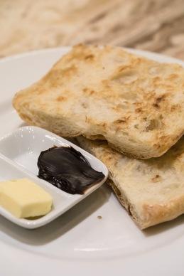 Ciabatta vegemite toast