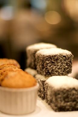 Muffin and lamington